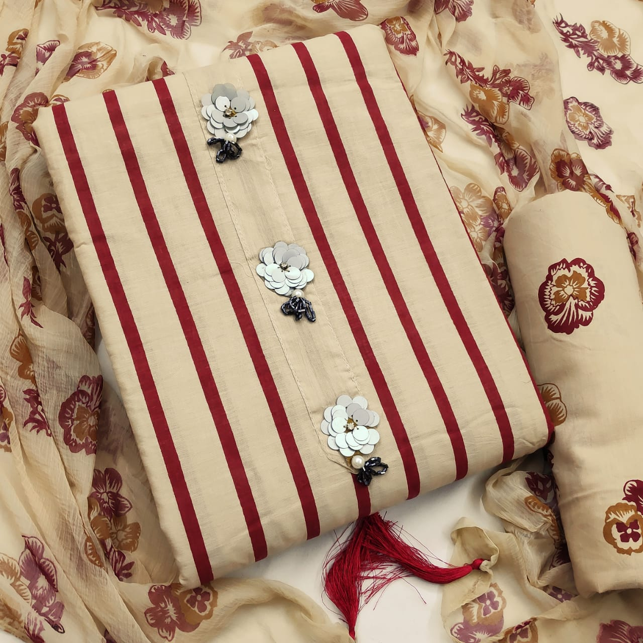 Thankar  Fancy and Printed Wear Cotton Dress Material Catalog at Wholesale rate