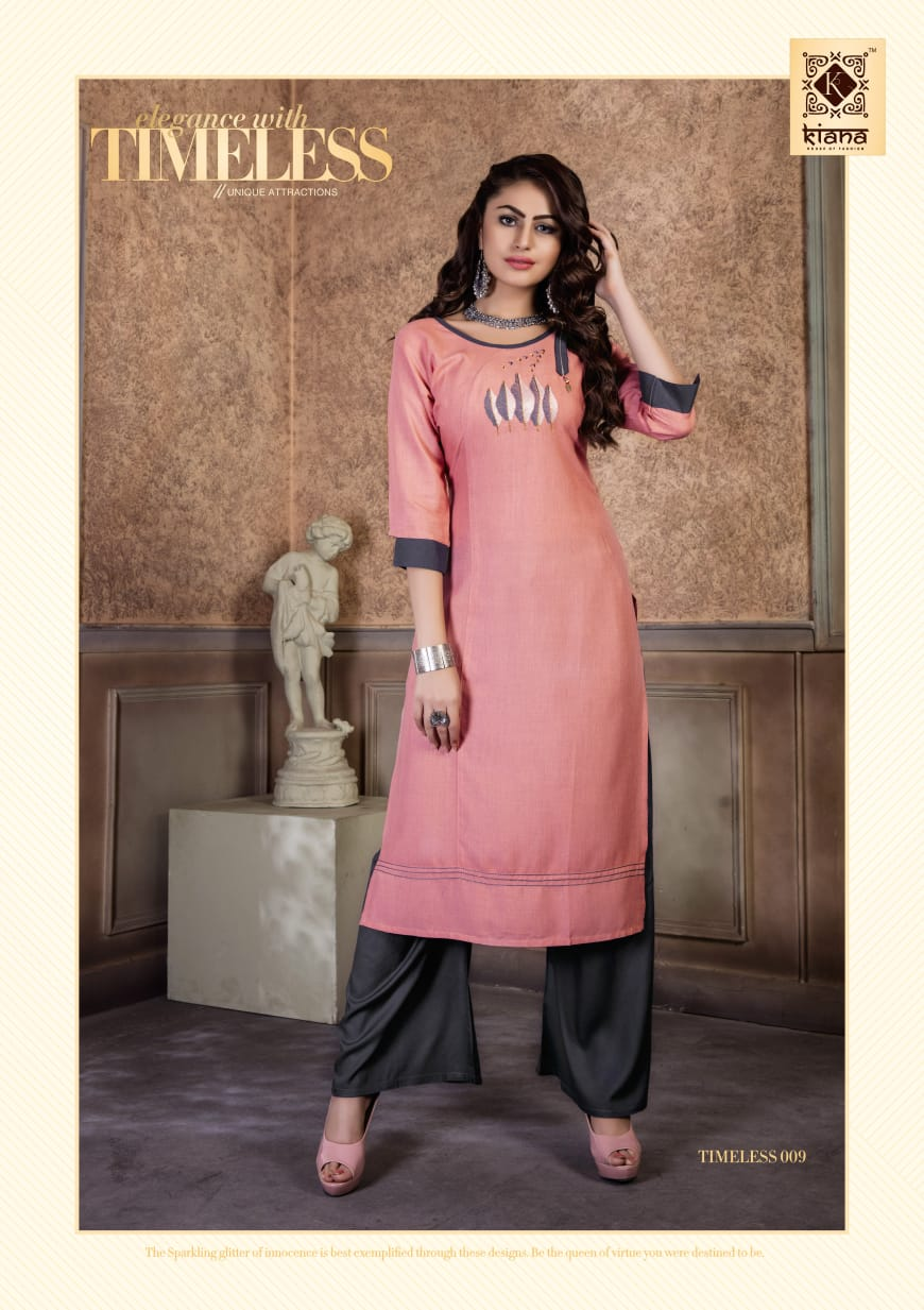 Kiana Timeless Heavy Rayon With Embroidered Festive Wear Kurtis Catalog at Wholesale rate