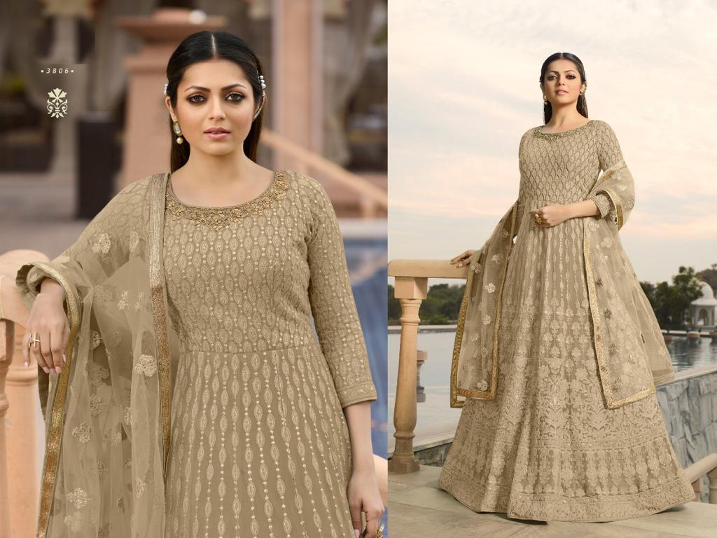 Thankar Wedding Wear Georgette With Embroidered Suit Catalog at Wholesale rate