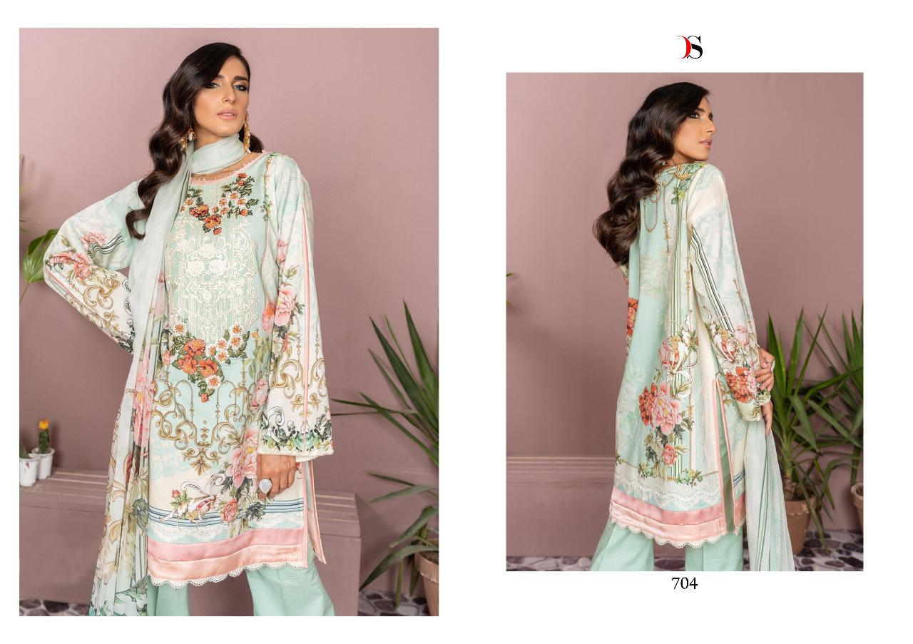 Deepsy Firdous -9 Pure Jam Cotton With Embroidered Pakistani Salwar Suit Catalog at Wholesale rate