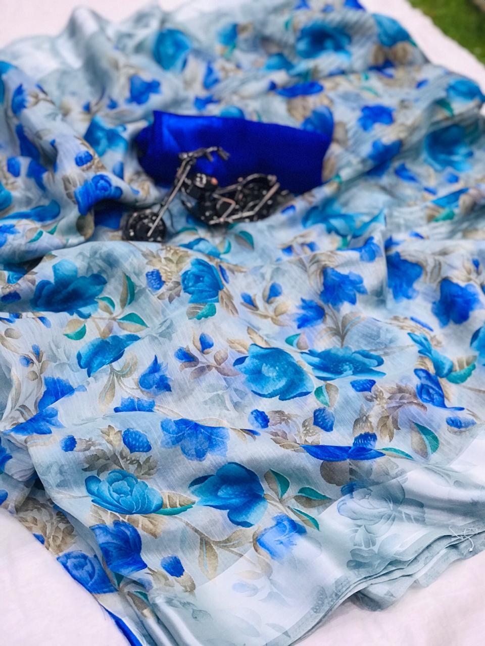 Thankar  Sartin Patta Linen  Beautiful Printed Saree Catelog at Wholesale rate