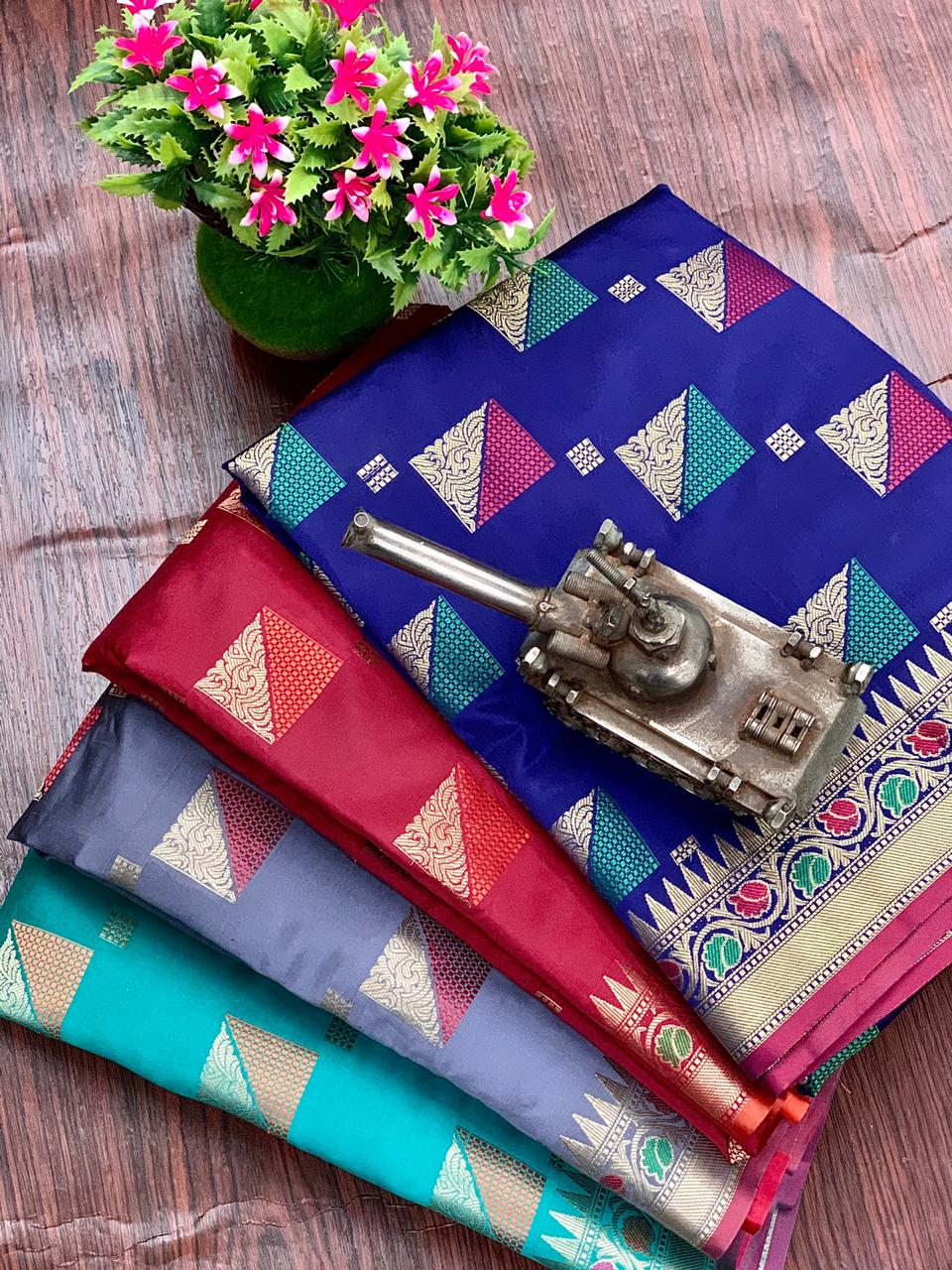 Thankar Charkat Lichi Silk  Saree  Festive Saree Catlog at Wholesale rate