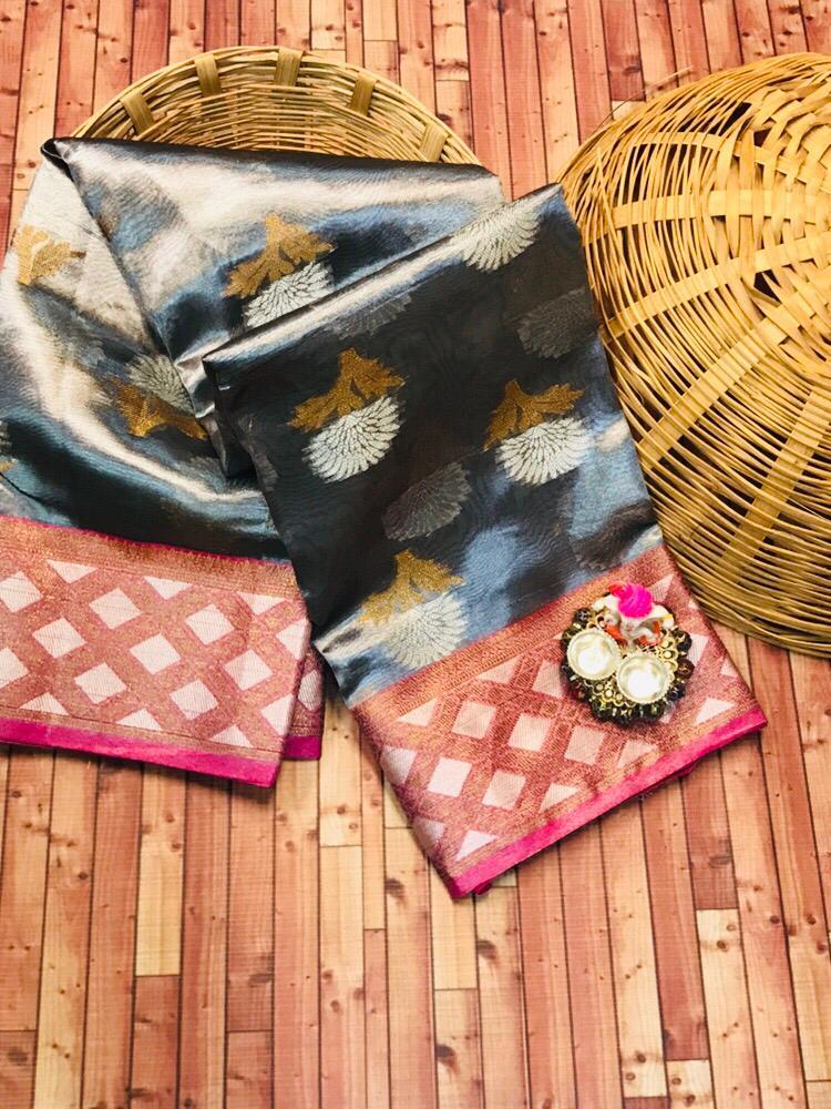 Thankar Organza Tissue Silk Weaving Festive Saree Catalog at Wholesale rate