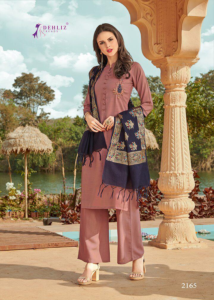 Dehliz Trand Snapchat  Rose Silk Festive Wear Kurti Catalog at Wholesale rate