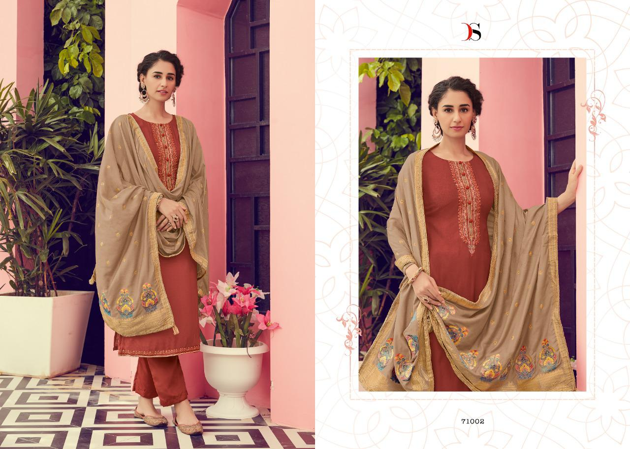 Deespy Pure Viscose Cotton Silk with Embroidered Salwar Suit Catalog at Wholesale rate