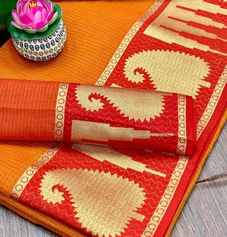 Thankar vc66 Kota Doriya  Wedding Silk Saree Wear Catalog at Wholesale rate
