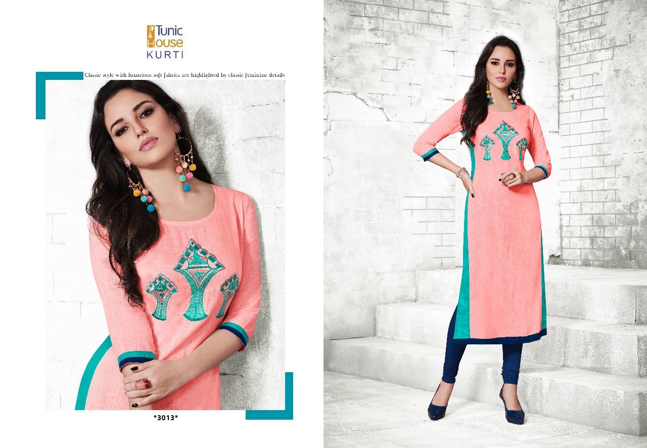 Thankar  Karishma Cotton Slub With Embroidery Kurti Catalog at Wholesale rate