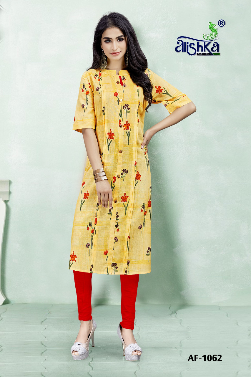 ALISHKA FASHION JELLY  Cotton Print Casual Wear Kurti Catalog at Wholesale rate