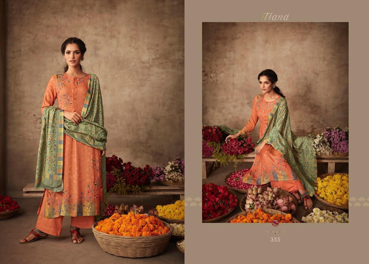 Itrana ART OF WEAVE New Arrival Pure Pushmina Printed Winter Collection Suit Catalog at Wholesale rate