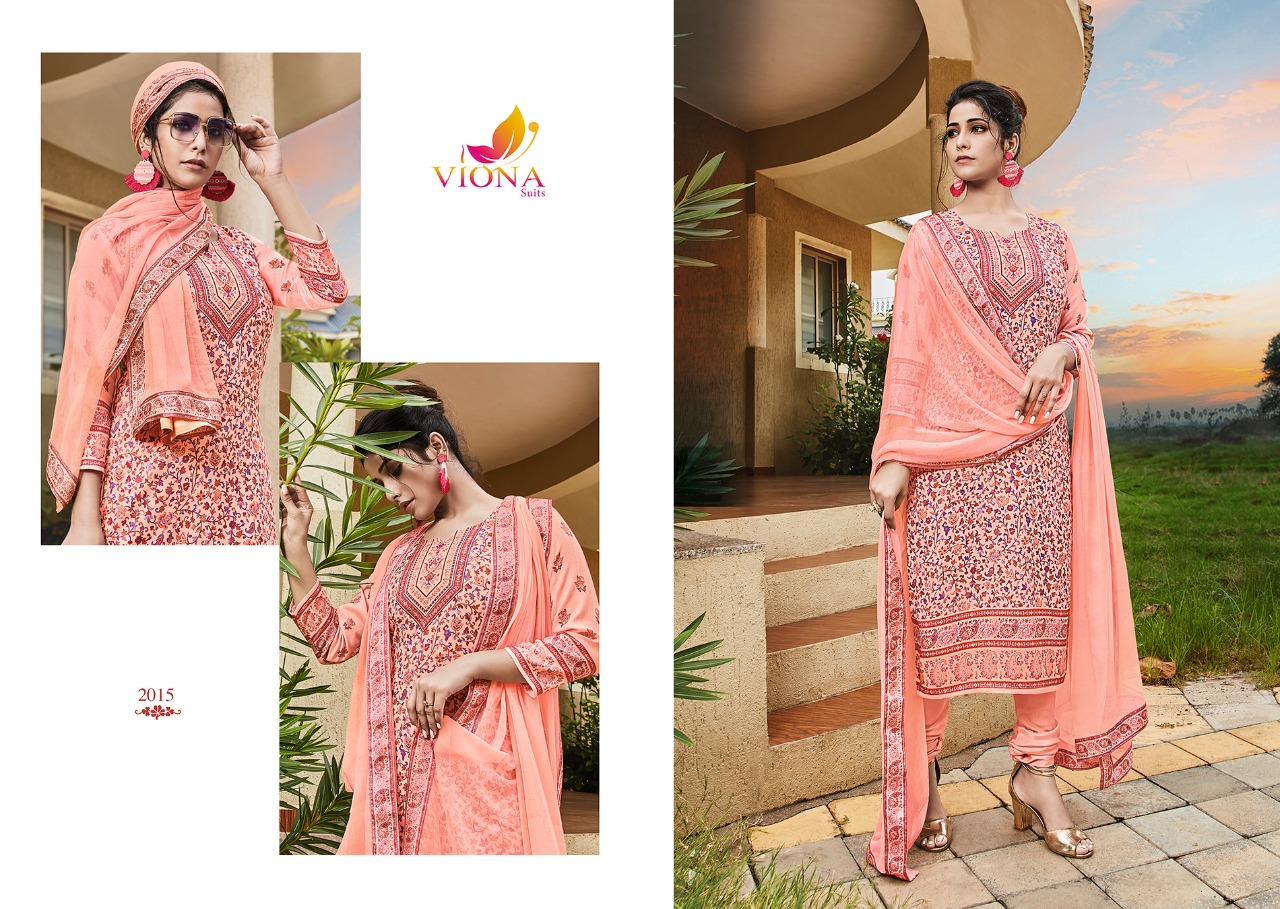 Viona Jasmine Pure Pushmina Digital Printed Winter Collection Suit Catalog at Wholesale rate