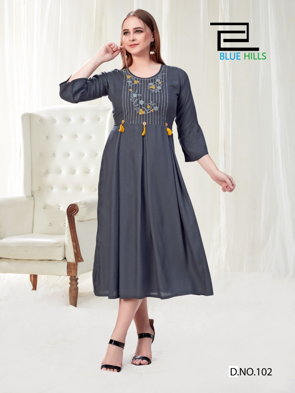 Vee Fab India Vegas Stylish  Pure Rayon Slub with Embroidery Kurti Catalog at Wholesale rate
