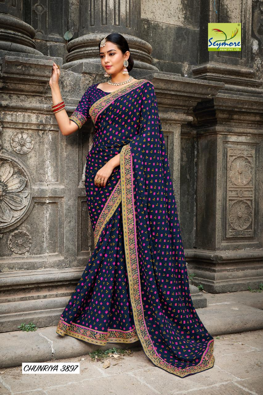 Seymore  Chunariya 9 Beautiful Georgette with Printed Saree Catalog at Wholesale rate