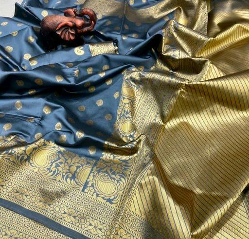 Thankar Mango Butti Designer Banarasi Weaving Soft Silk Saree Wear Catalog at Wholesale rate