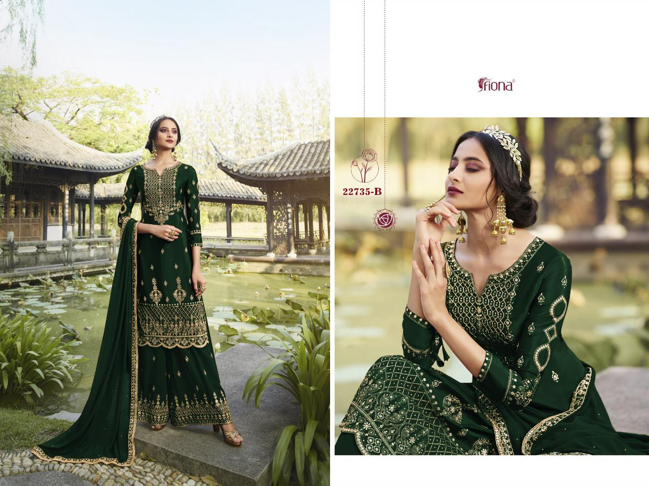 Fiona Nargis 22735 Stylish Heavy Faux Georgette with Embroidery Work Style Salwar Suit Catalog at Wholesale rate