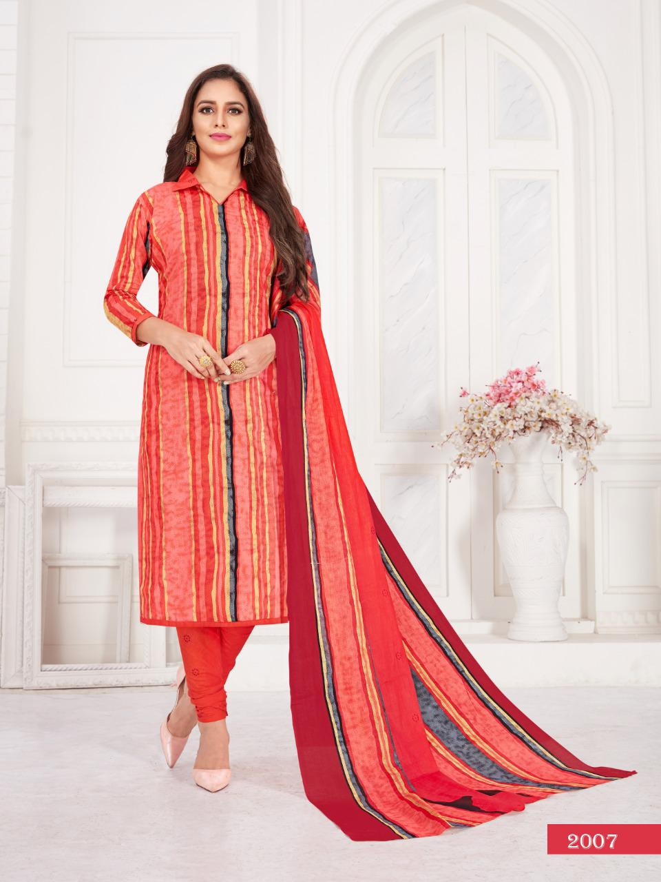 Kuber Zeal  Stylish Pure Cotton Fancy Salwar Suit Wear Catalog at Wholesale rate