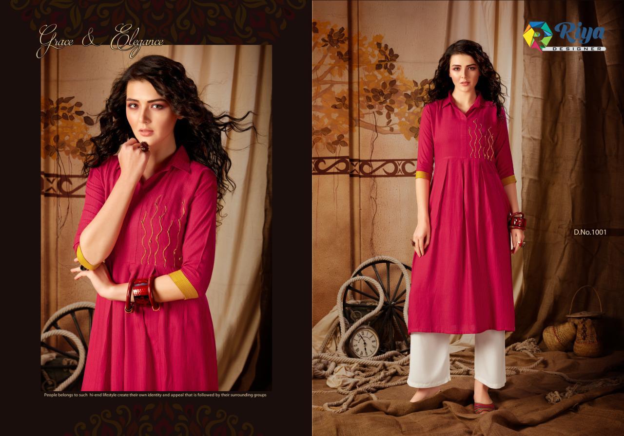 Riya Designer Anokhi Vol - 2 Stylish Heavy Rayon With Hand Work Fancy Wear Kurti Catalog at Wholesale rate