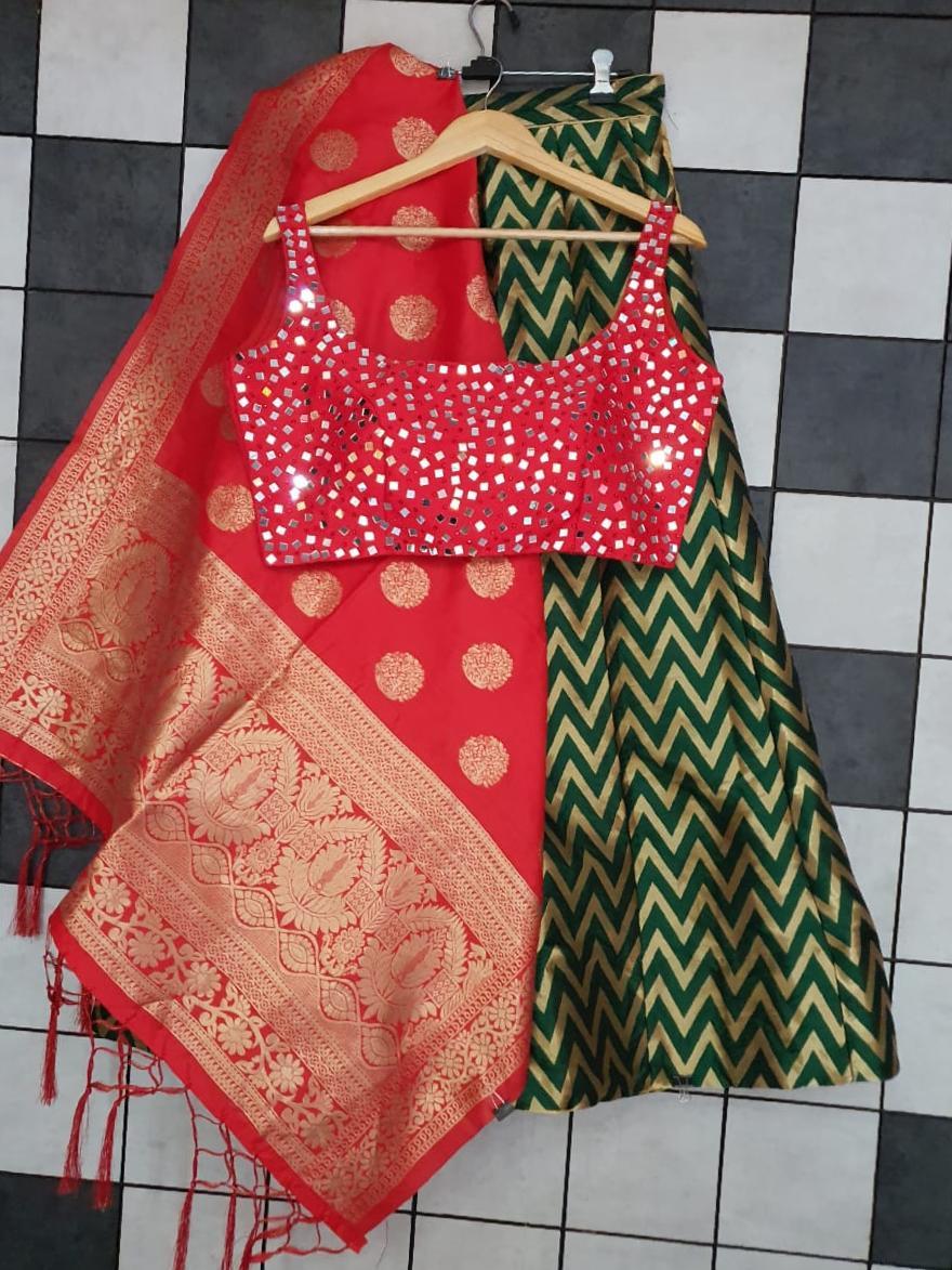 Studio 2020 Designer Banarasi Silk With Mirror Work Stylish Lehenga Choli Catalog at Wholesale rate
