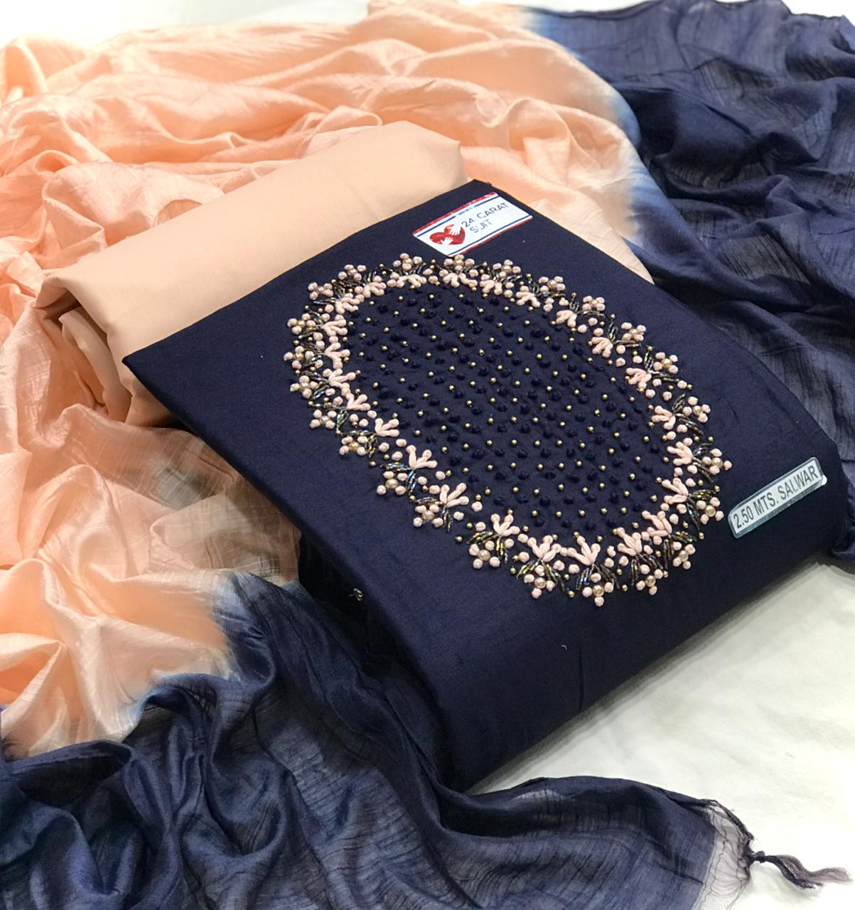 Thankar 24 Carat Suit Designer Jam Cotton Dress Material Catalog at Wholesale rate