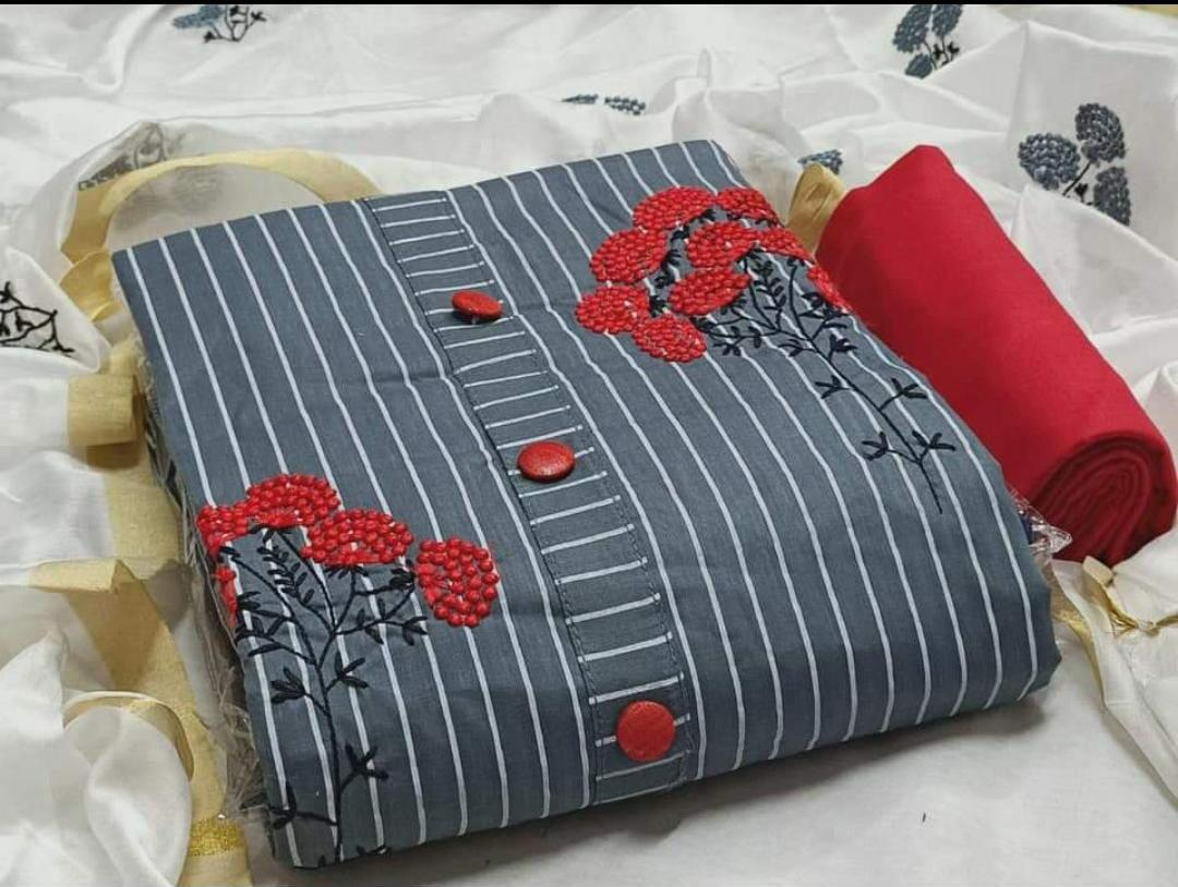 Thankar Guldasta  Stylish Cotton with Embroidery Work Dress Material Catalog at Wholesale rate