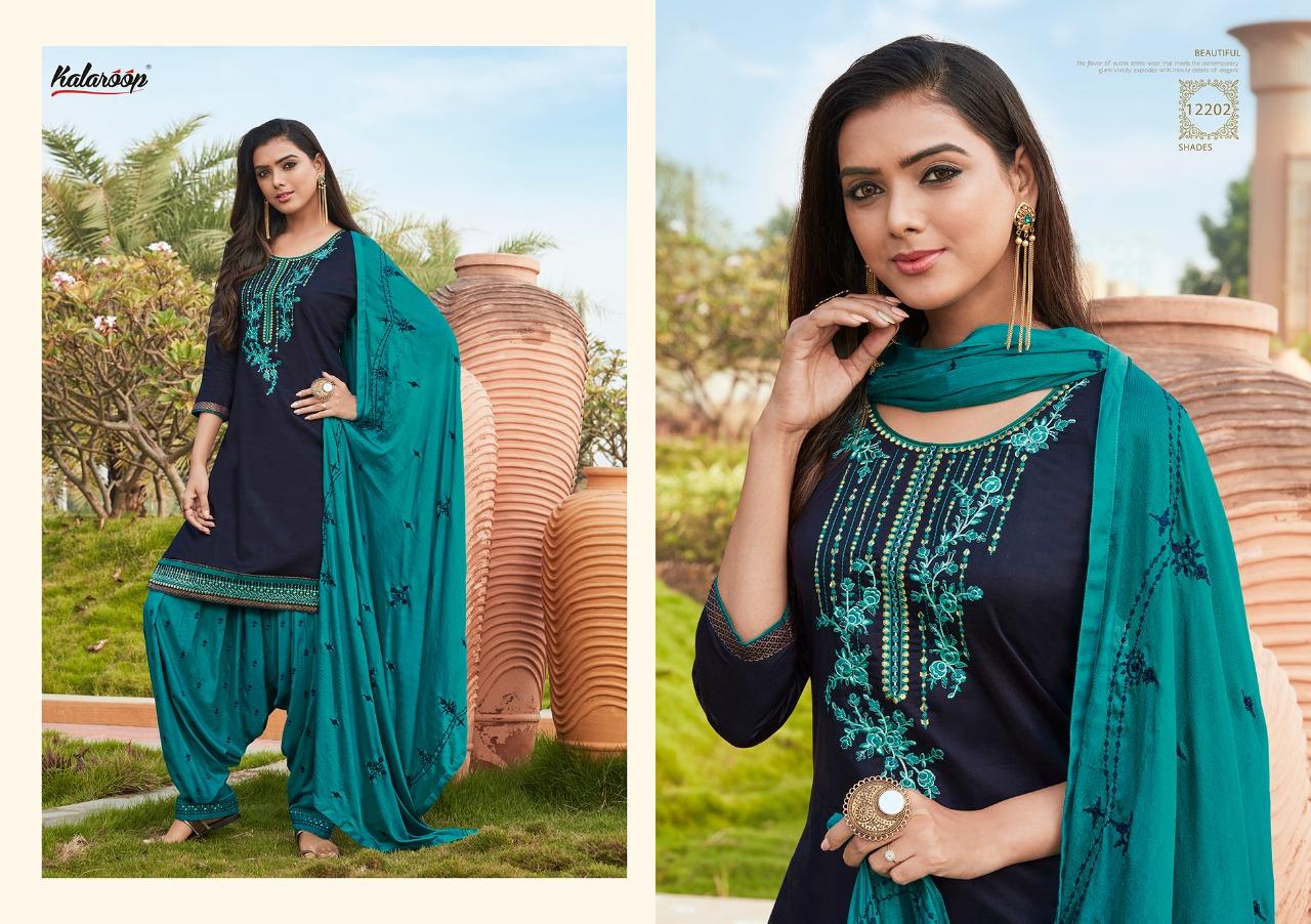Kalaroop Fashion Of Patiyala Vol-28 Designer jam Silk With Fancy Work Salwar Suit Catalog at Wholesale rate