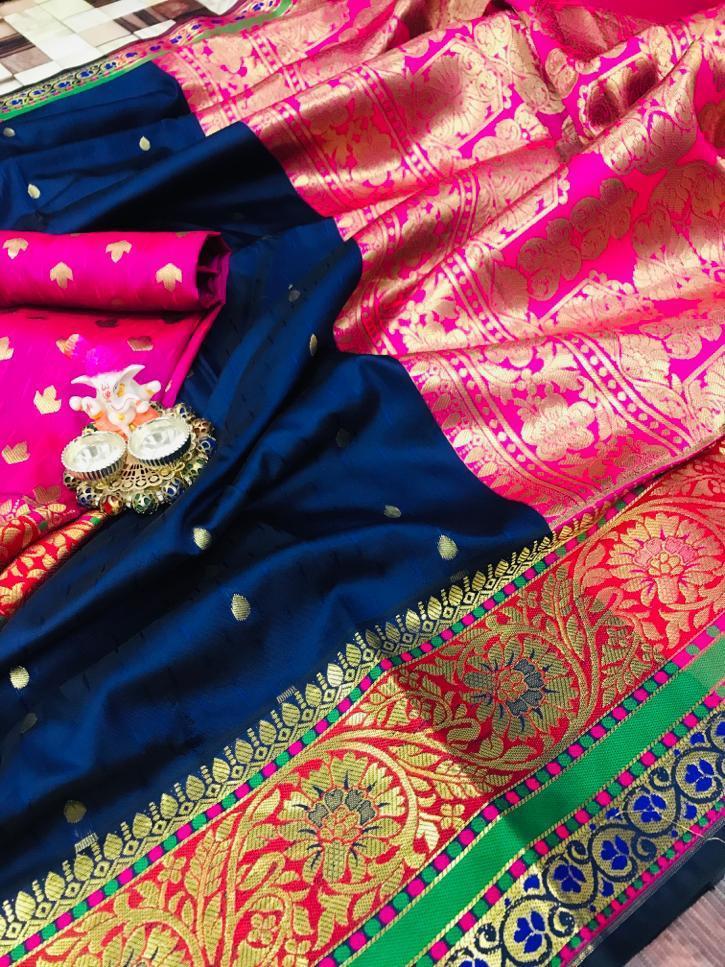Thankar Samantha silk Pure Silk Paithani style Saree Catalog at Wholesale rate