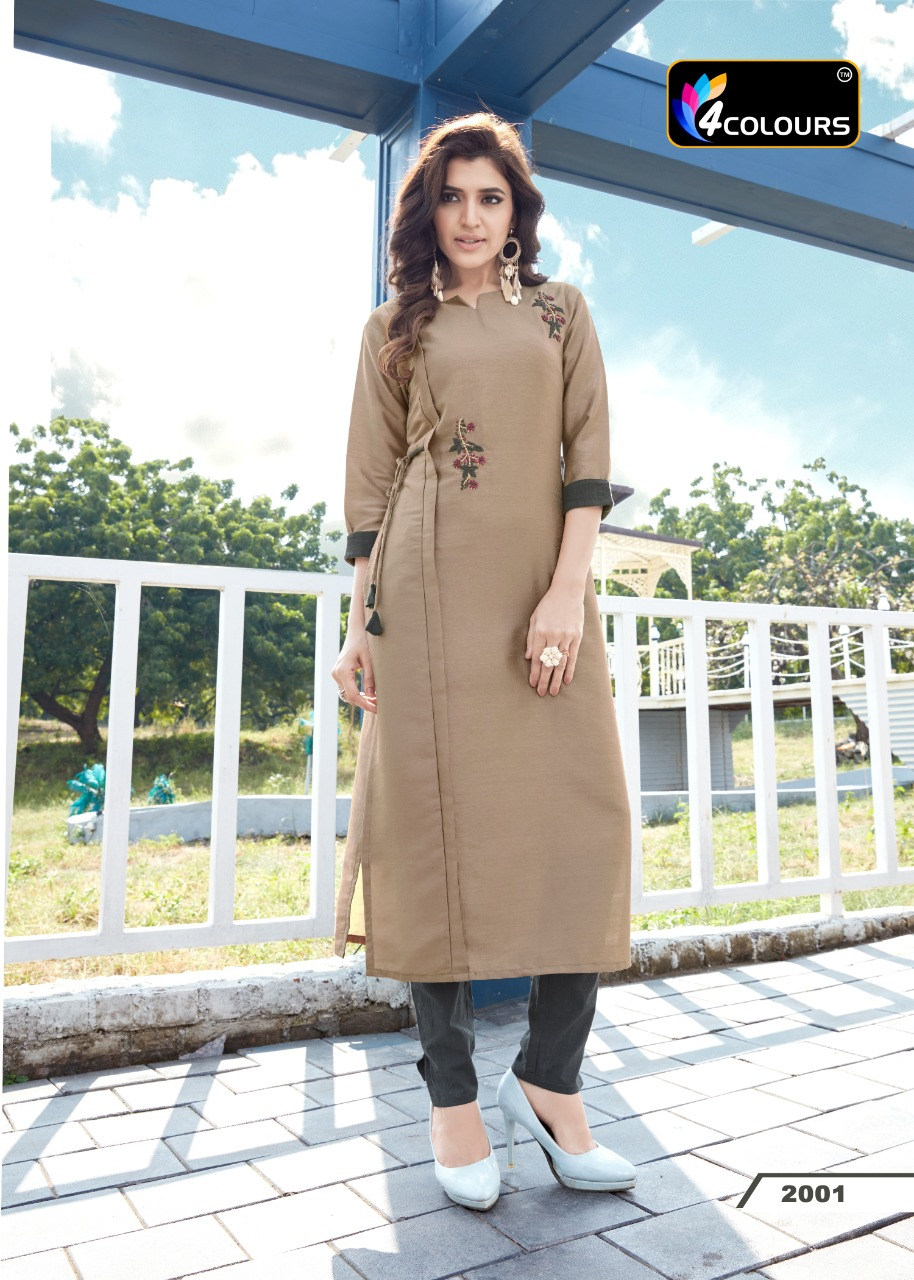 Thankar Crystal Stylish Heavy Silk With Handwork Festive Wear Kurti Catalog at Wholesale rate