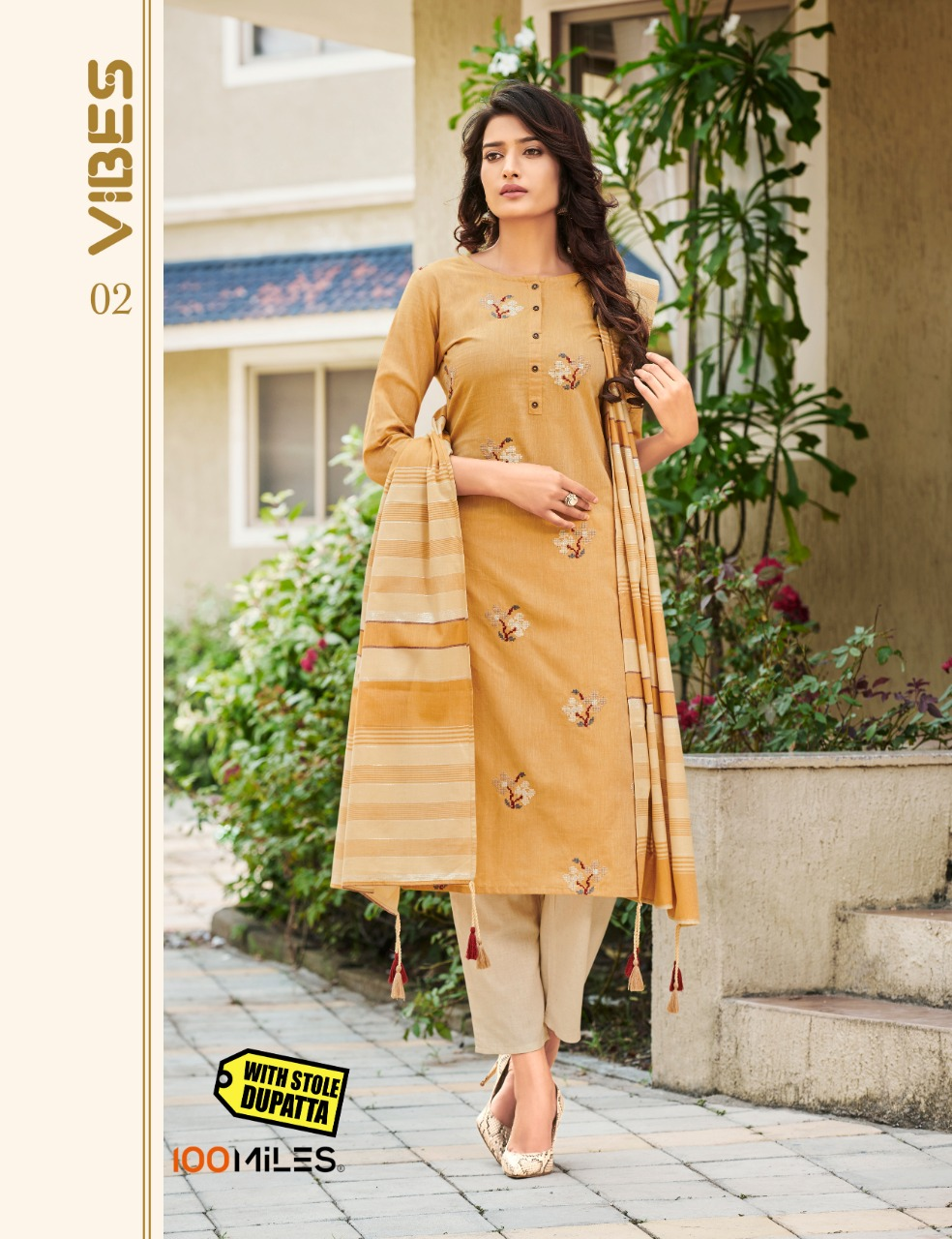 100MILES Vibes Cotton With Embroidery Festive Wear Kurti Catalog at Wholesale rate