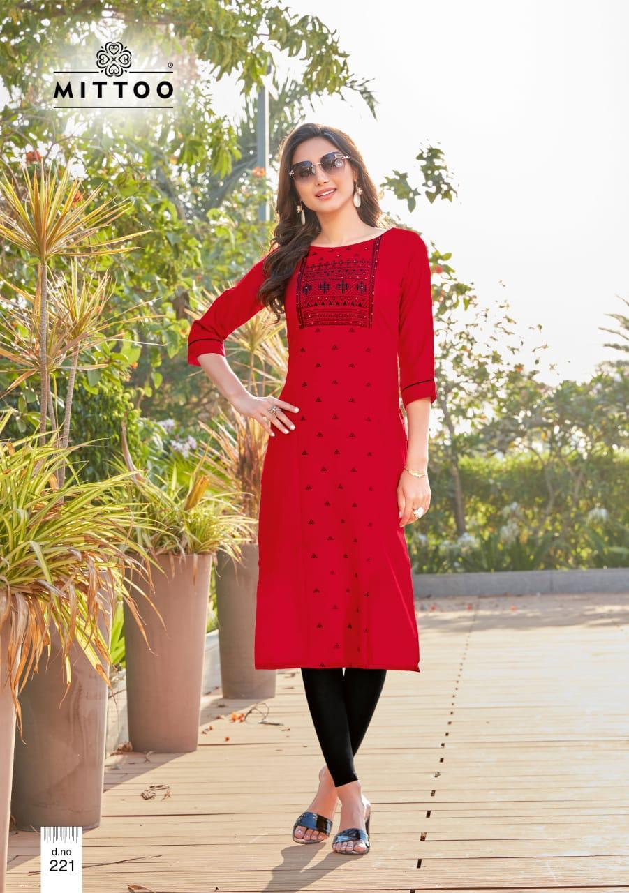 Mitto Payan Vol -13  Stylish Rayon Print Casual Wear Kurti Catalog at Wholesale Rate