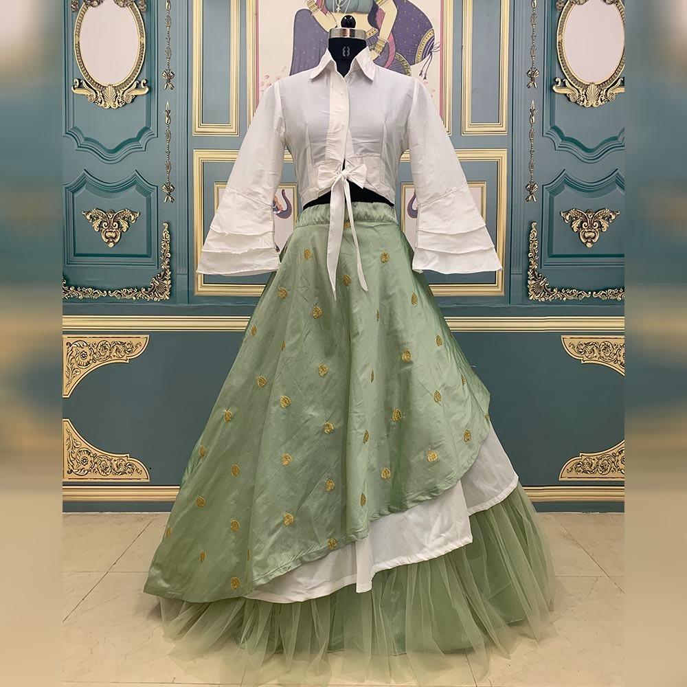Thankar AB-337 Taffeta silk Embroidered Party Wear Lehenga Choli Catalog at Wholesale rate