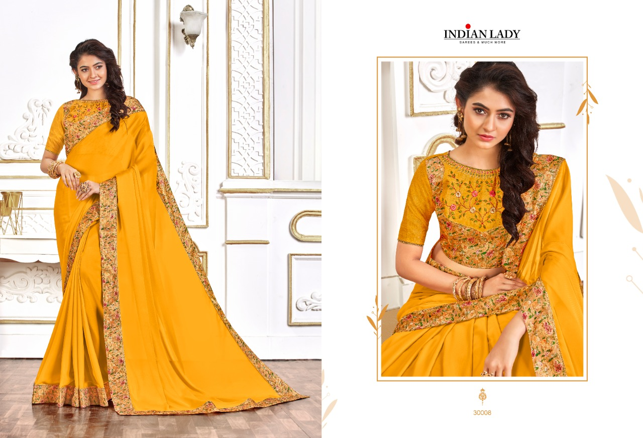 Thankar Digital Rangoli Vol-3 Two Tone Chiffon Embroidered work Saree Catalog at Wholesale rate