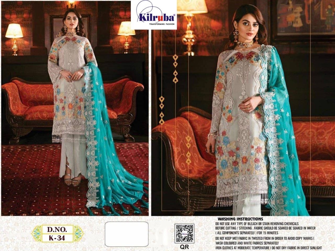 Kilruba  Beautiful Georgette With Embroidery Work Salwar Suit Catalog at Wholesale rate