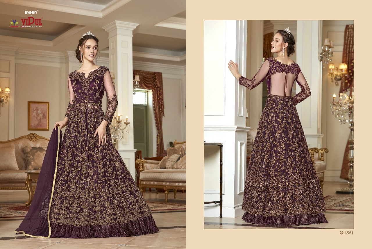 Thankar VIPUL 4561 Beautiful Heavy Soft Net With Embroidery Salwar Suit Catalog at Wholesale rate