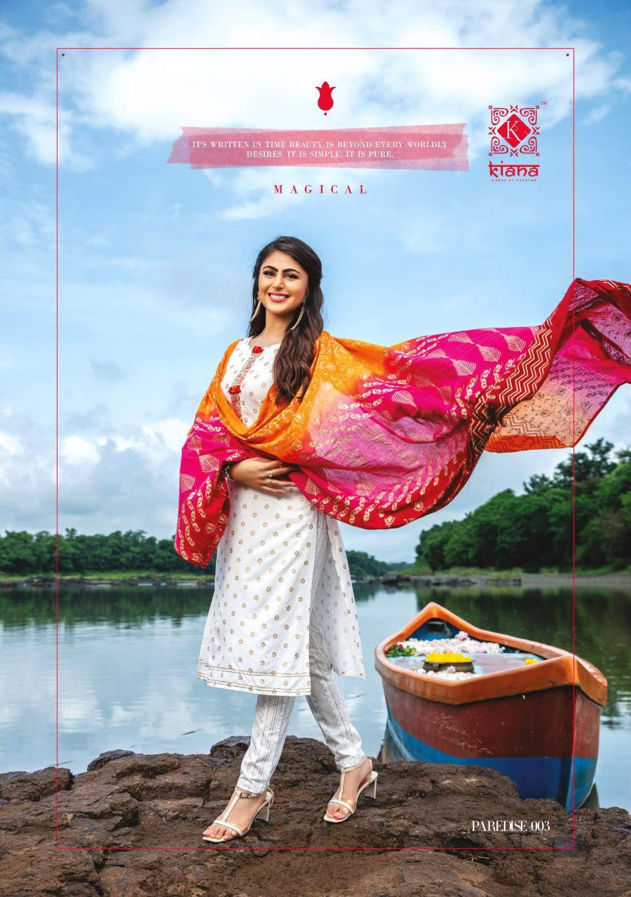 Kiana Pardesi Designer Rayon Cotton with Embroidery Work Kurti Catalog at Wholesale rate