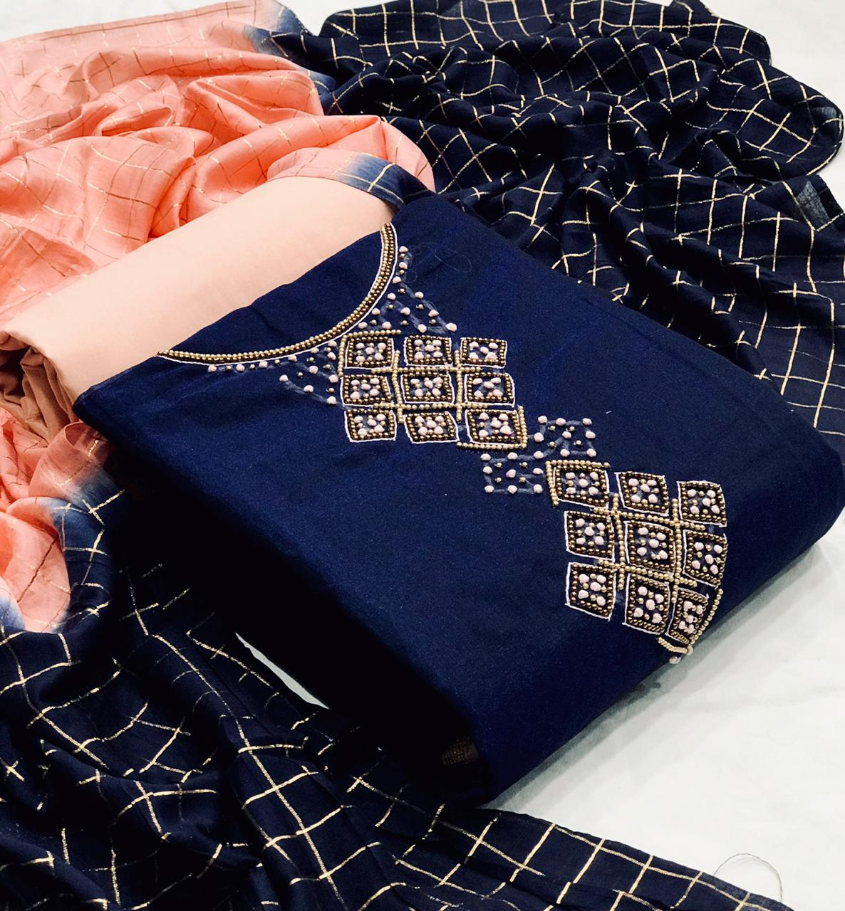 Thankar Modal Chanderi Silk Festive Wear Dress Material Catalog at Wholesale rate