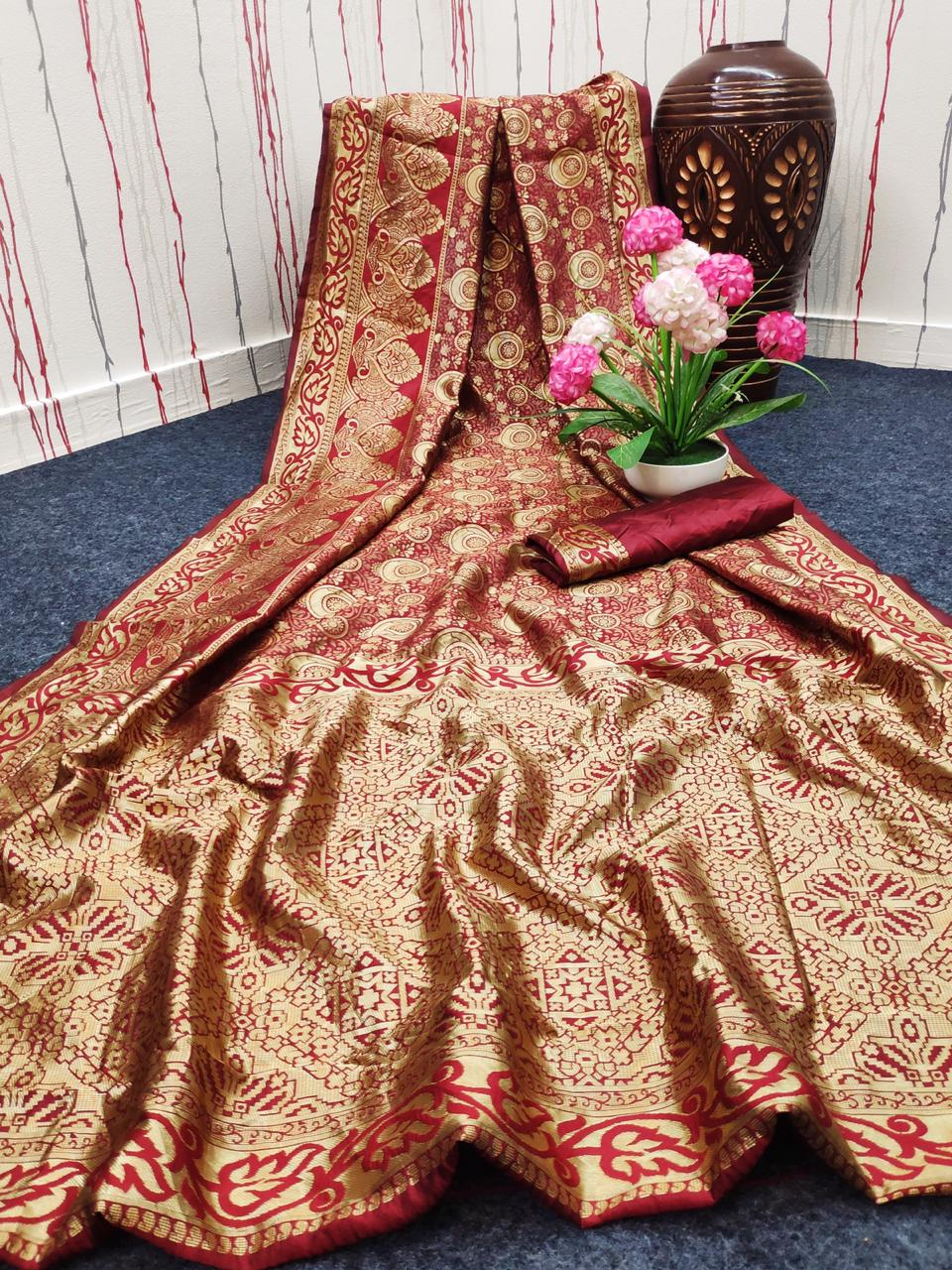 Thankar Designer Banarasi Weaving Soft Silk Wedding Wear Saree catalog at Wholesale rate