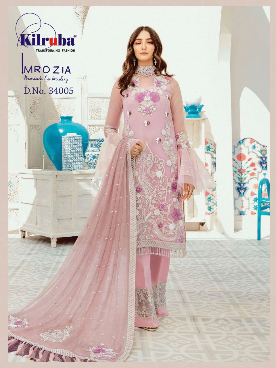 Kilruba Imrozia Pure Georgette With Embroidered Pakistani Suit Catalog at Wholesale rate