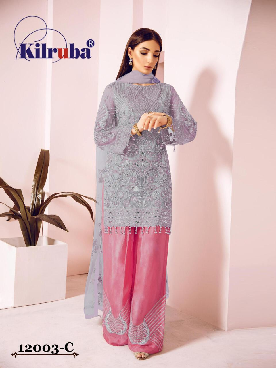 Kilruba Blockbuster2 Stylish Faux Georgette With Handwork Pakistani Suit Catalog at Wholesale rate