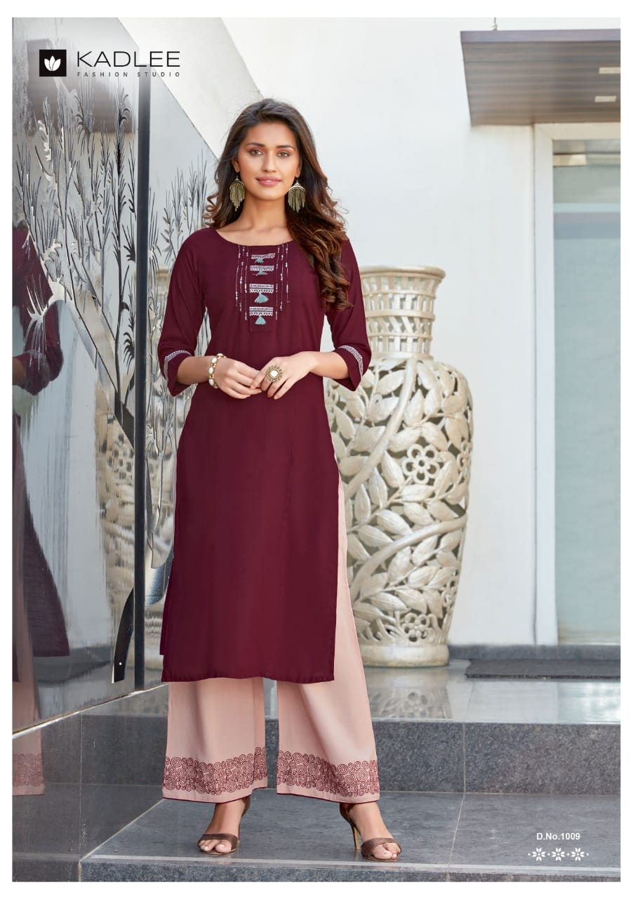 Kadlee Pankh Stylish Rayon With Embroidery Work Festive Wear Kurti Catalog at Wholesale rate