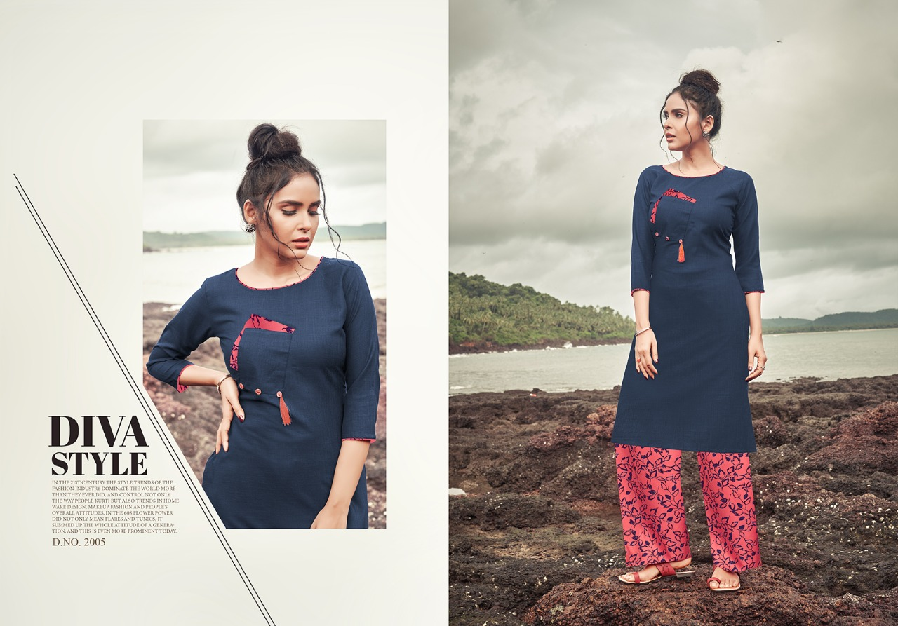 NItisha Nx Nitisha Plazo Vol 2 Cotton Slub Festive Wear Kurti Catalog at Wholesale rate