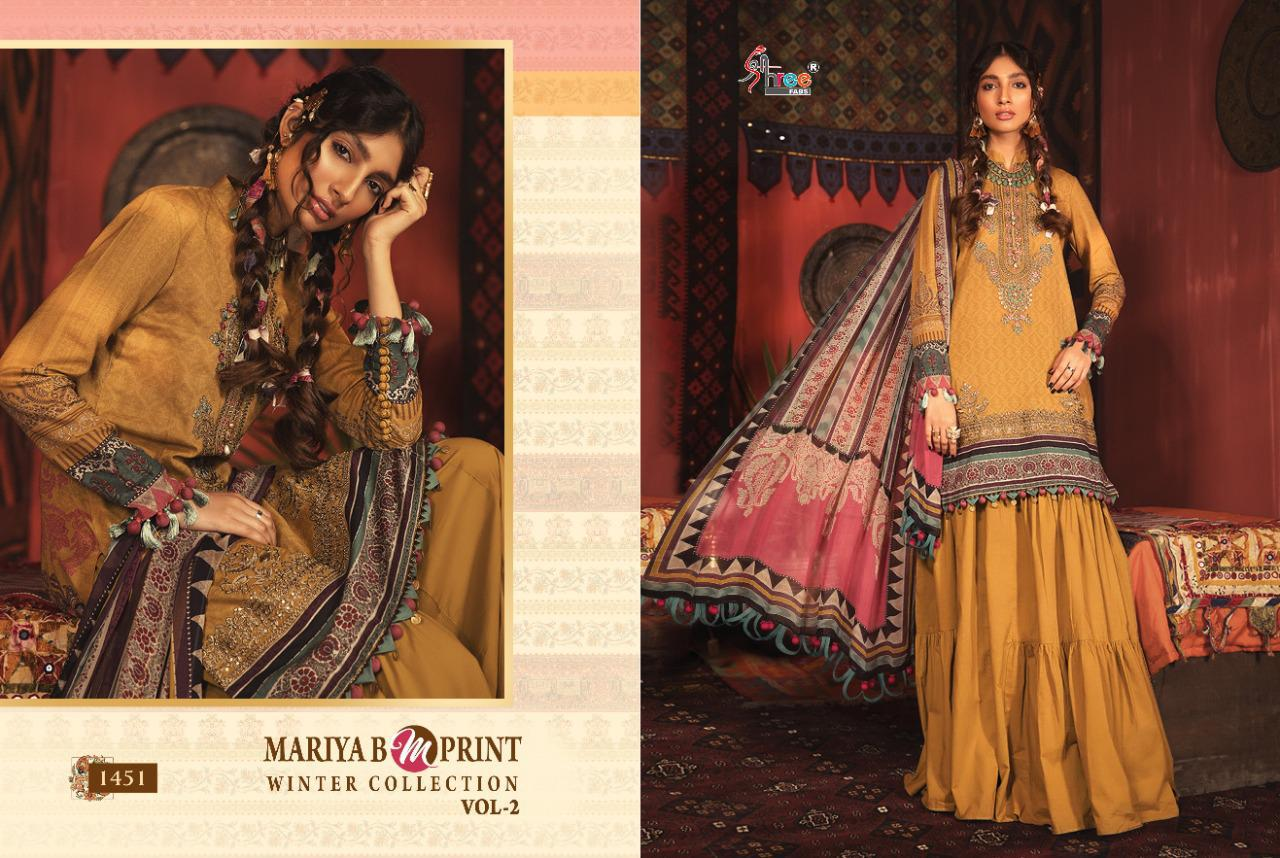 MARIA B M PRINT WINTER COLLECTION VOL-02 Pure Pashmina Winter Pakistani Suit Catalog At Wholesale rate