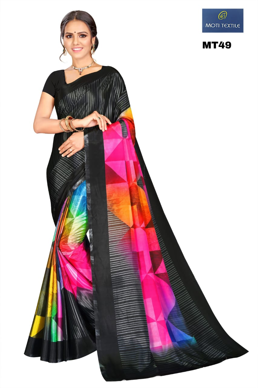 Thankar Nayra Stylish Silk Crepe With Digital Print Casual Wear Saree Catalog at Wholesale rate