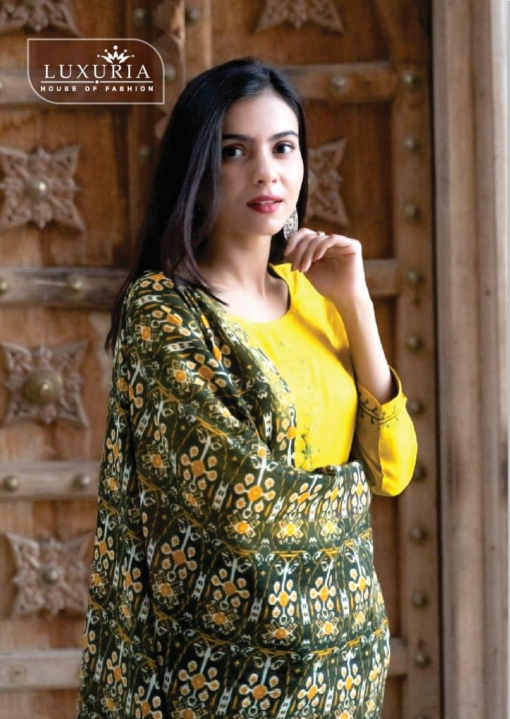 Luxuria Forecast 3 Stylish Rayon With Embroidered Festive Wear Kurti Catalog at Wholesale rate