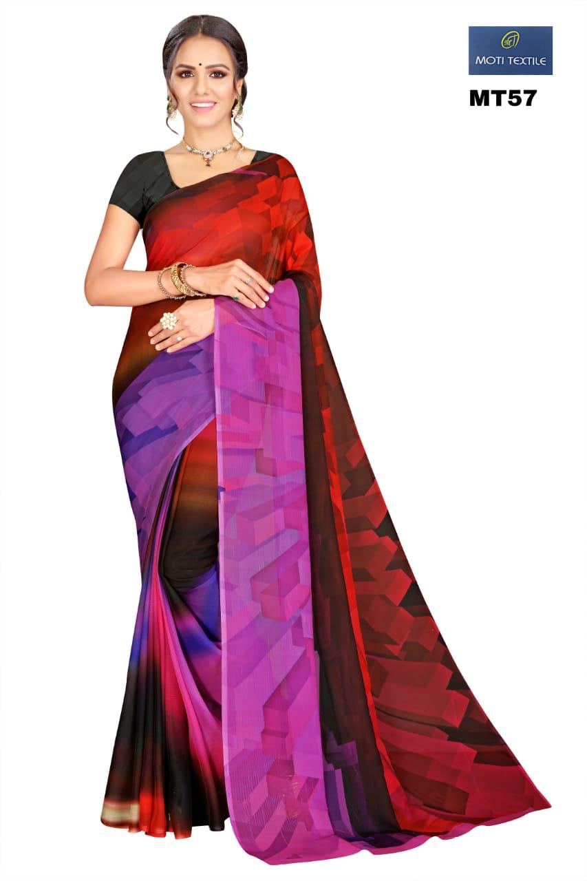 Thankar Daizy Stylish Chiffon With Digital Printed Casual Wear Saree Catalog at Wholesale rate