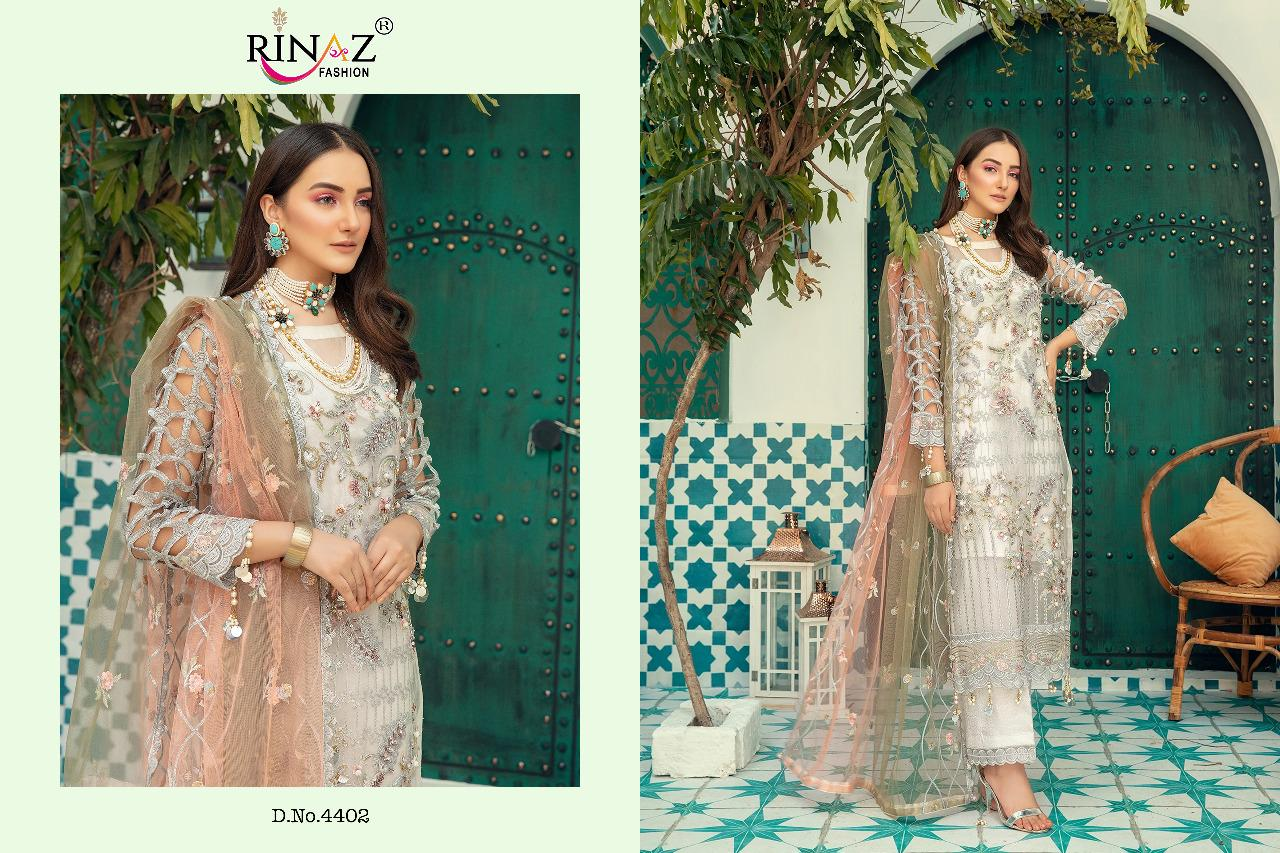 Rinaz Fashion Emaan Adeel vol.-3 Designer Georgette Pakistani Suit Catalog at Wholesale rate