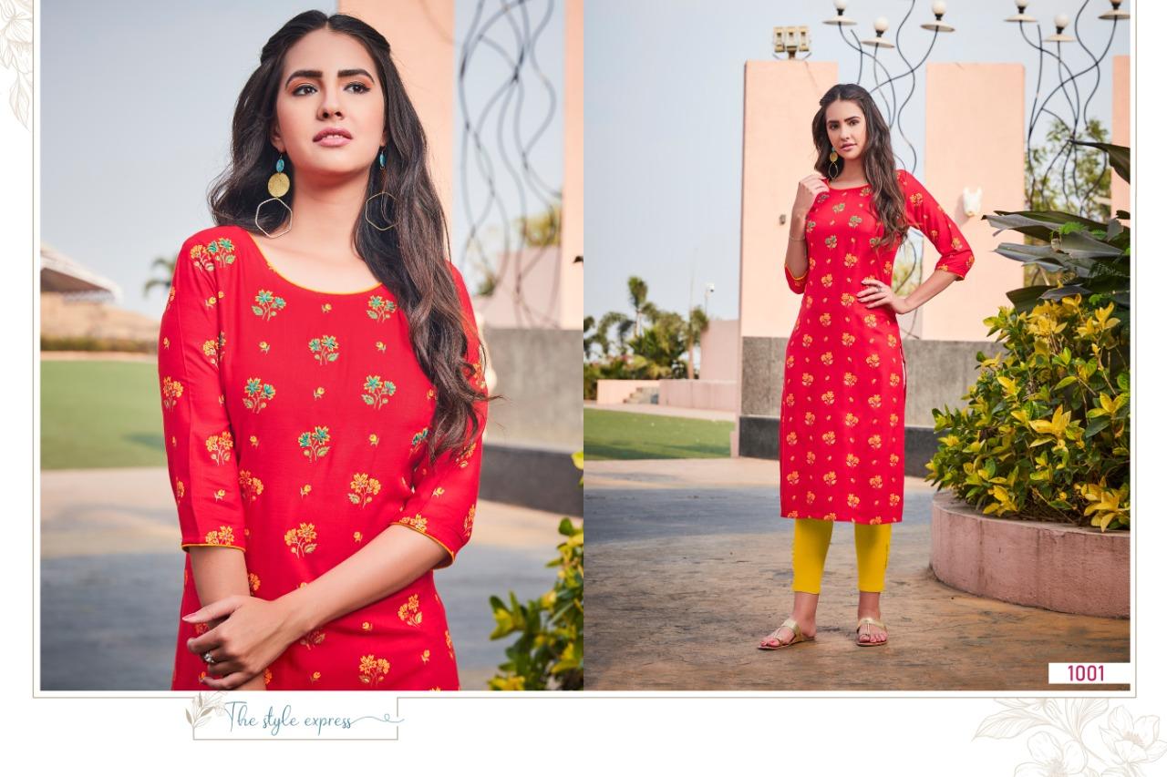 R Studio Aisha Vol 1 Designer Rayon Slub Print Festive Wear Kurti Catalog at Wholesale rate