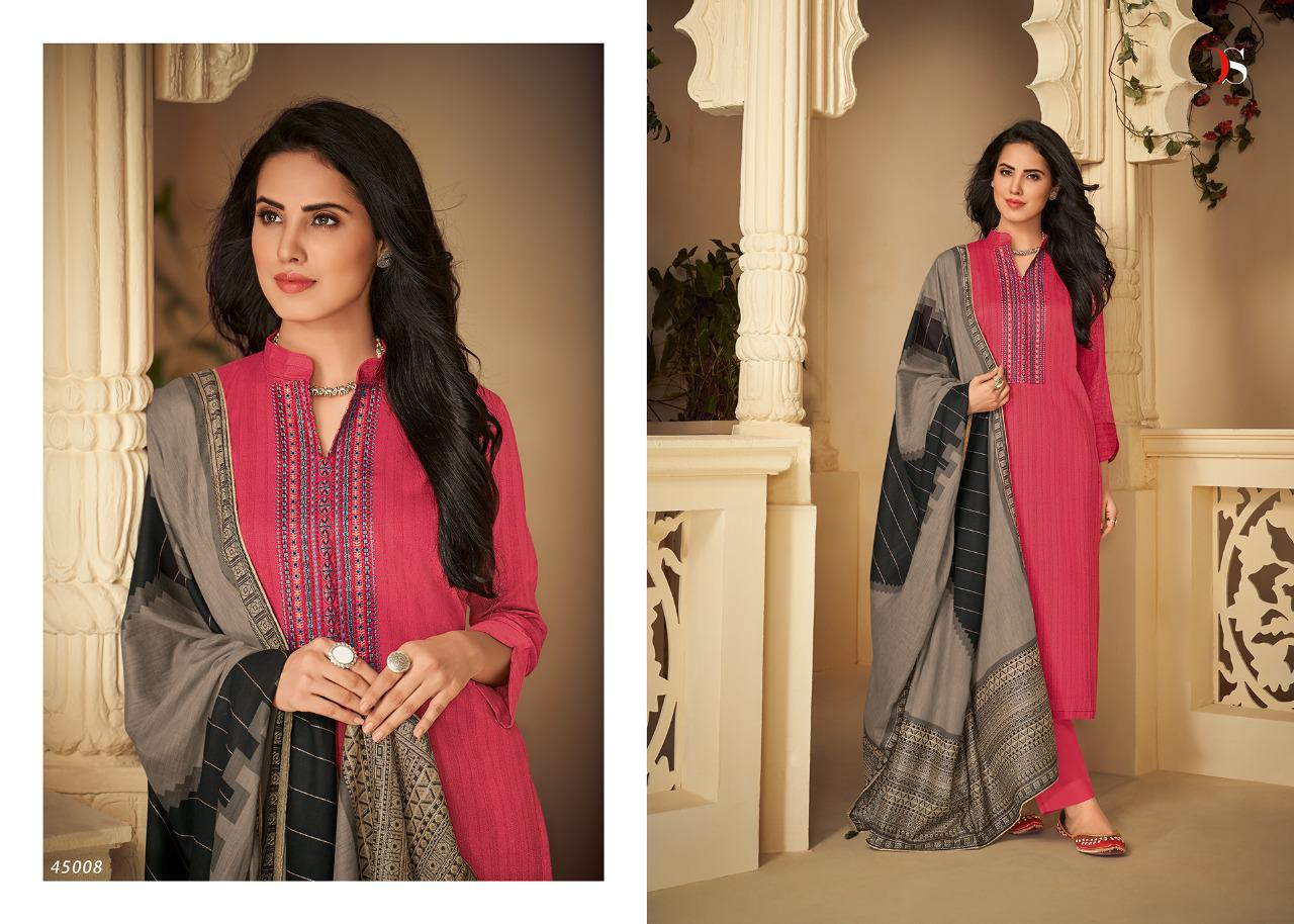 Deepsy Suit Panghat-4 Stylish Pure Pashmina Print With Embroidery Salwar Suit Catalog at Wholesale rate