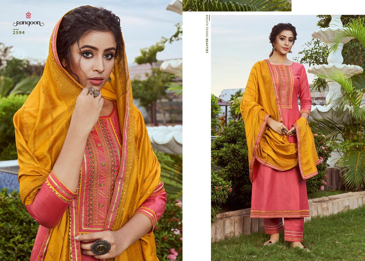 Rangoon Rangoli  Beautiful Solid Silk with Ethnic Work Salwar Suit Catalog at Wholesale rate
