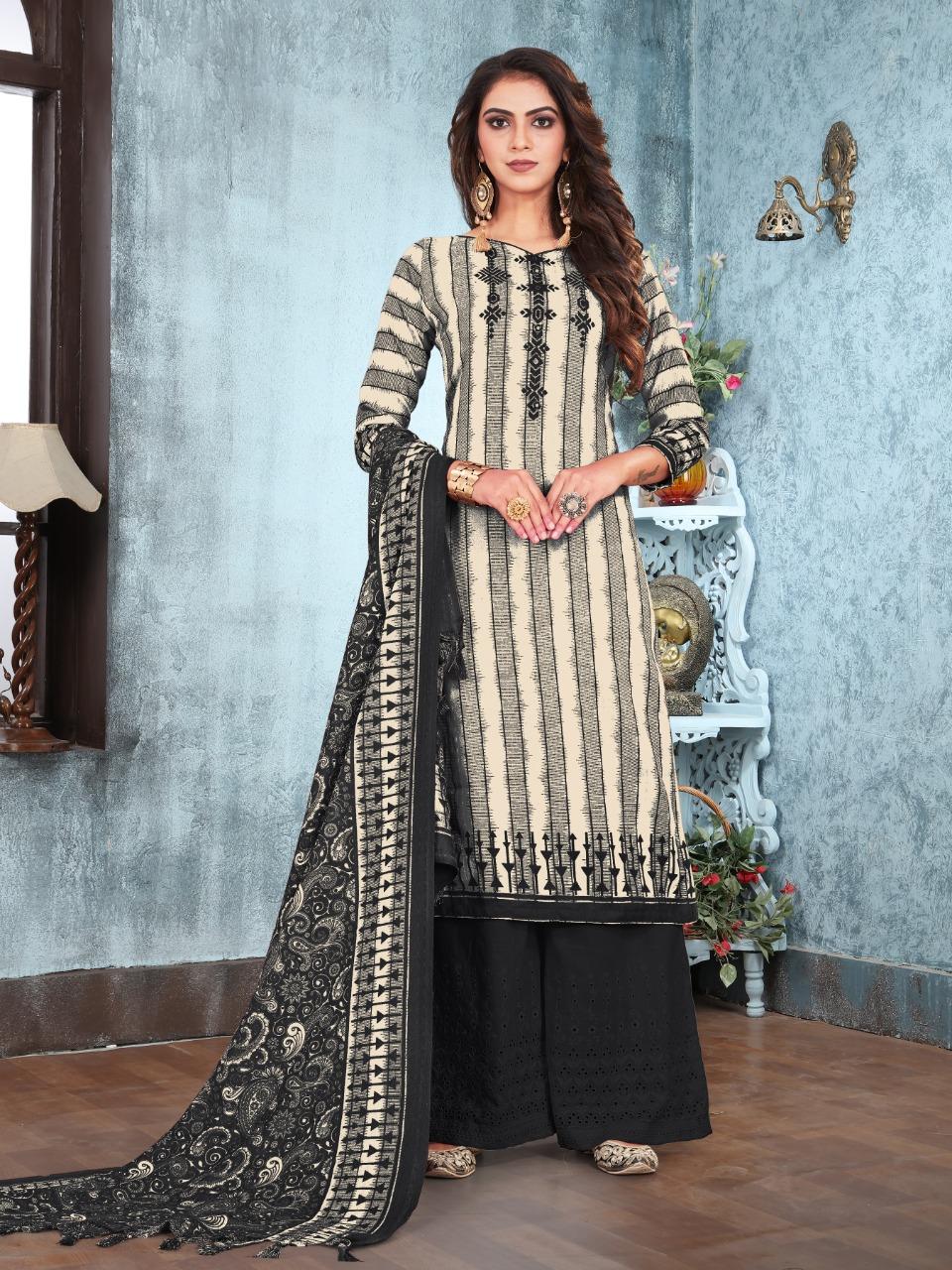 Bipson Winter Collection Season 1161 Pure Pashmina Printed Salwar Suit at Wholesale rate