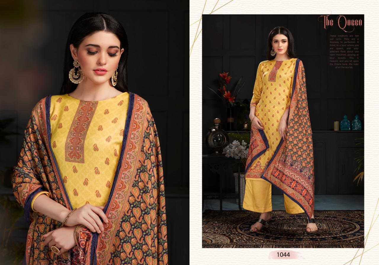 Bispon Shaneel 1041-1044 Stylish Pure Pashmina Digital Print Salwar Suit Catalog at Wholesale rate