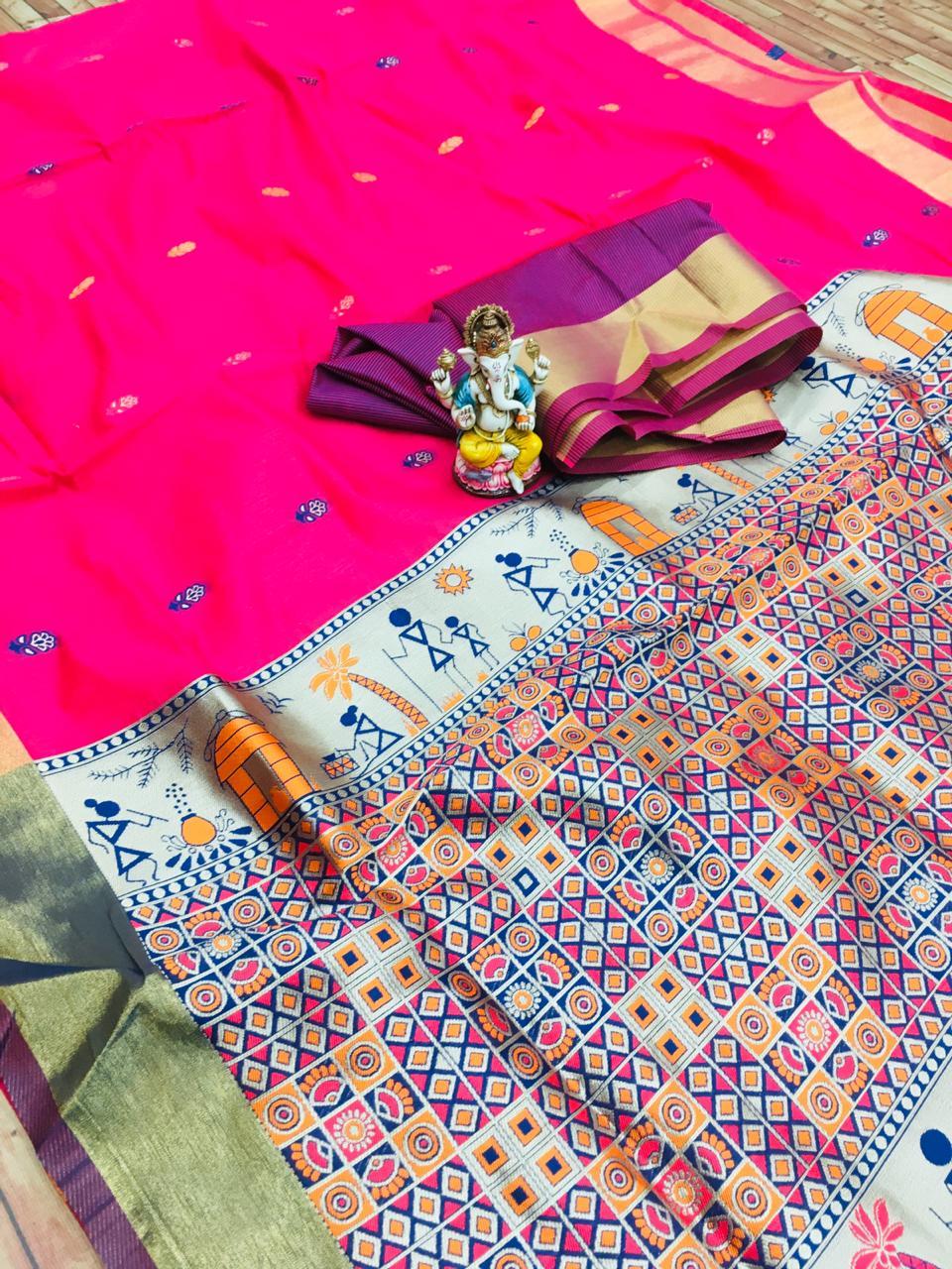 Manzar Rajwadi linen Stylish Lilan Cotton Silk Wedding Wear Saree Catalog at Wholesale rate